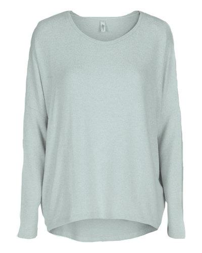0 Biara blouse light turquoise melange