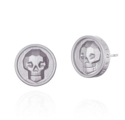 0 Skull Earrings Bright Unisex