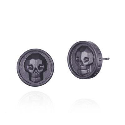 0 Skull Earrings Gun Unisex