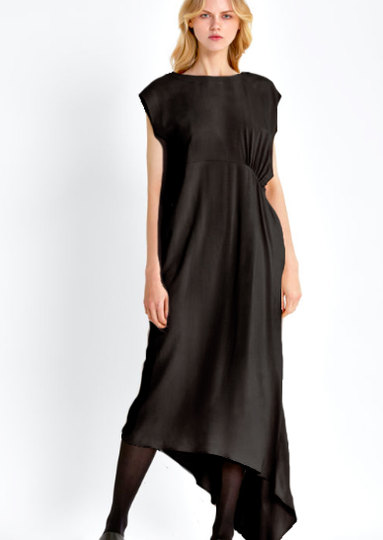 0 Dress Maxi Asymmetrical Fundamental Grace