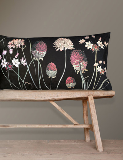 0 Tyynyliina & tyyny/ Pillow Cover &  Pillow/Allium 40X80 cm