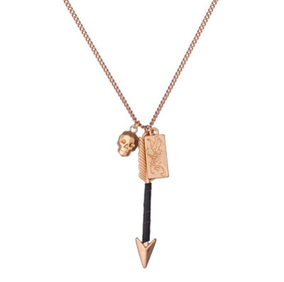 0 Arrow Necklace Gold