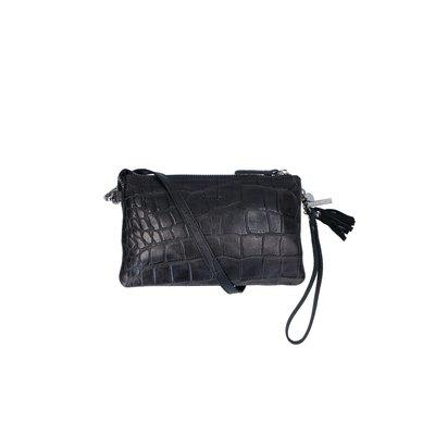 0 04 Pouch Vintage Croco Black
