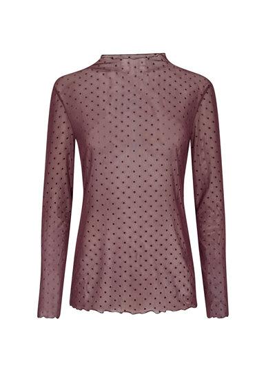0 Alda Mesh Shirt Plum