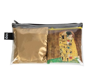 0 Art Lover Klimt Kiss and Metallic Gold Matt Bags
