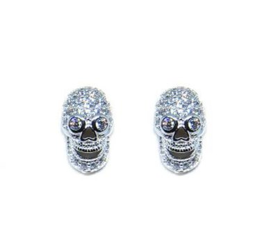 0 Bad Touch White stud earrings/nappikorvakorut