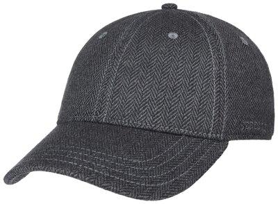 0 Baseball cap silk greyish blue