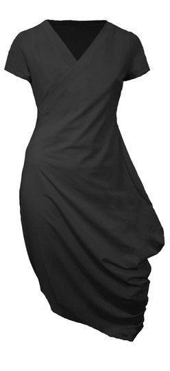 0 Beehive Tee Dress Wrap Black