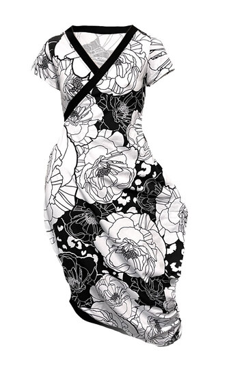 0 Beehive Tee Dress wrap  Poppy Chess