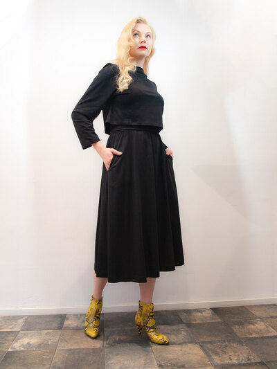 0 Bella Skirt Black