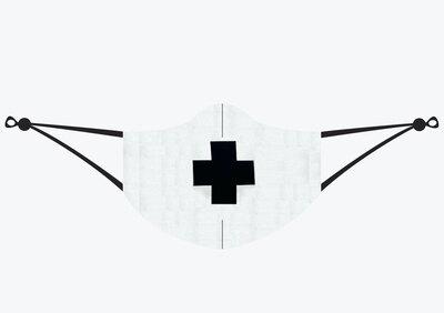 0 Black Cross Kasvosuojain-maski (Kazimir Malevich)