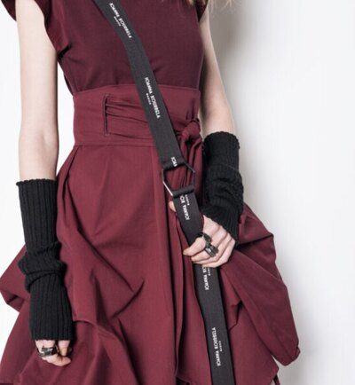 0 Body Mapping Gloves/Leg Warmers (Hihakkeet/säärystimet) Black-Romeo Red