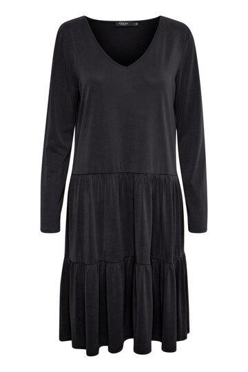 0 Colissa v-neck dress greyish black