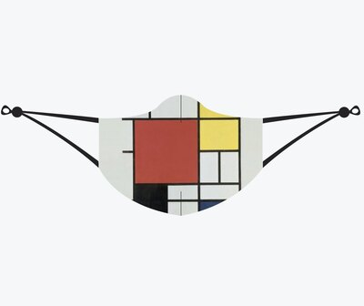 0 Composition with Red, Yellow, Blue and Black Kasvosuojain-maski (Piet Mondrian)
