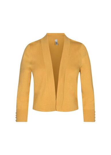 0 Dollie Short Knit Cardigan Yellow