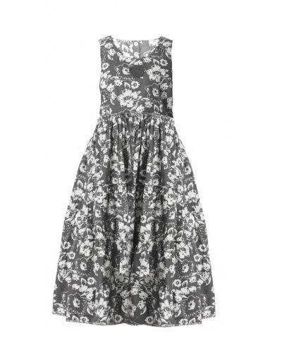 0 Dress Black Flower Cotton