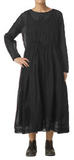 0 Dress Organdie Vintage Black