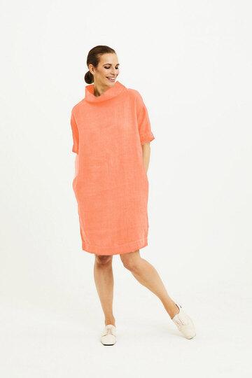 0 Dress With Collar Linen