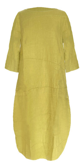 0 Dress with cuttings lime linen