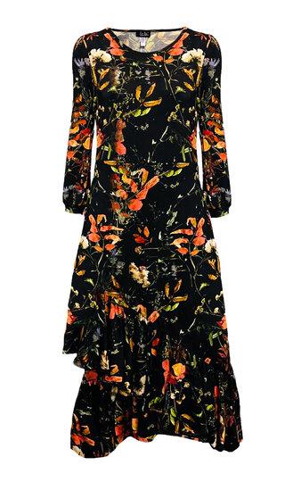 0 Eedas Dress Leaf Symphony