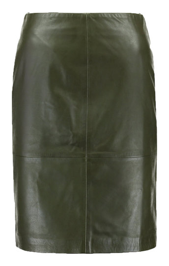 0 Folly Leather Skirt Forest Green