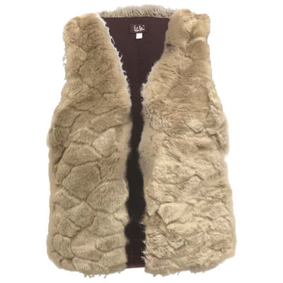0 Furry Vegeturkisliivi /Vegan Fur Waiscoat Silver Beige