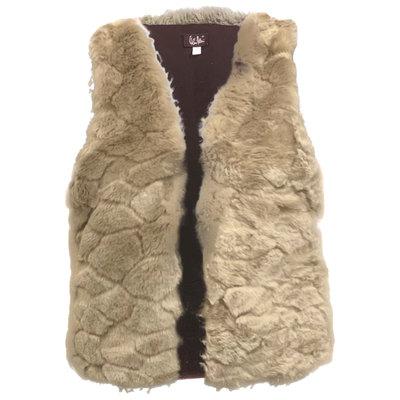 0 Furry Vegeturkisliivi /Vegan Fur Waiscoat Silver Beige