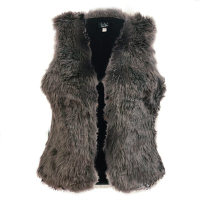 0 Furry Vegeturkisliivi/Vegan Fur Waistcoat Grey