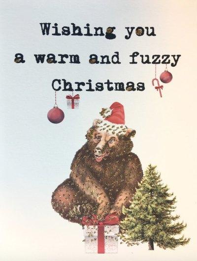 0 Fuzzy Christmas card