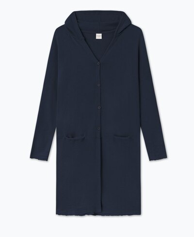 0 Hooded Wide Cardigan/Huppuneuletakki Black
