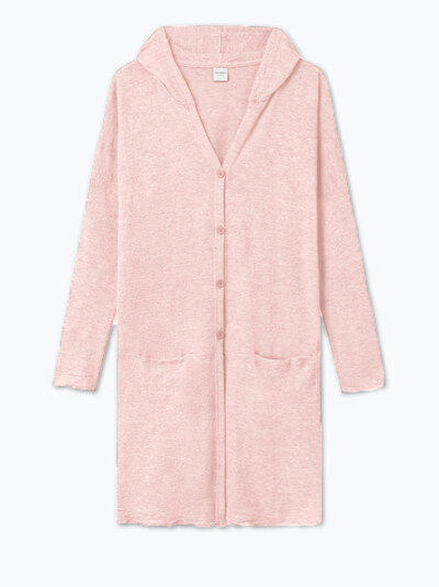 0 Hooded Wide Cardigan/Huppuneuletakki Rose