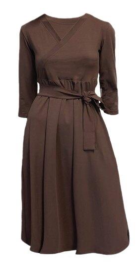 0 Ines Midi Dress Chocolate Coffee