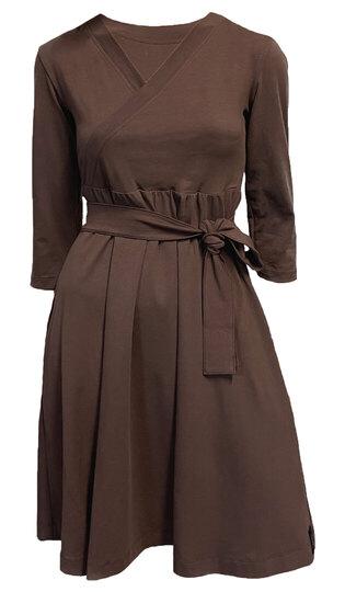 0 Ines Petit Dress Chocolate coffee