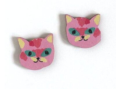 0 KITTY PINK STUD EARRINGS