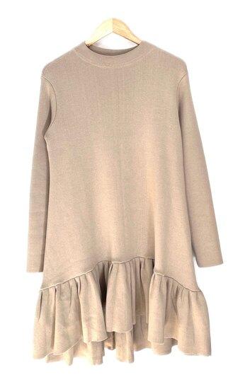 0 Knit Dress cotton experience beige