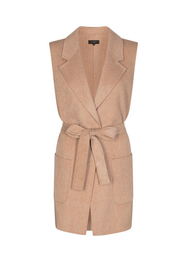 0 Kobra Wool vest/villakangasliivi beige