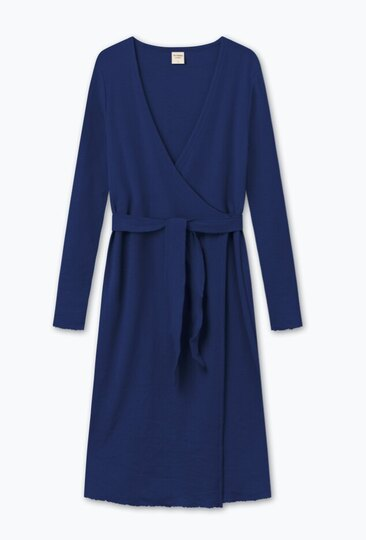 0 Long Wrap Cardigan Dark Blue