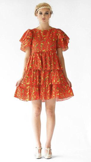 0 Lora Dress Red