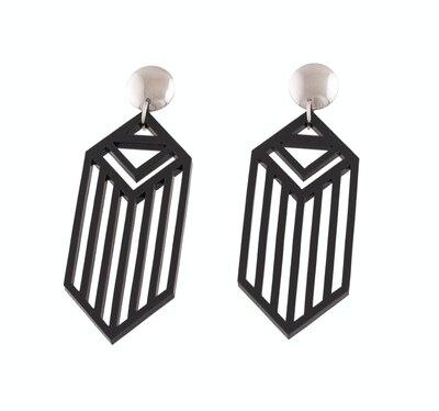 0 MLANDA nappikorvakorut/ stud earrings musta