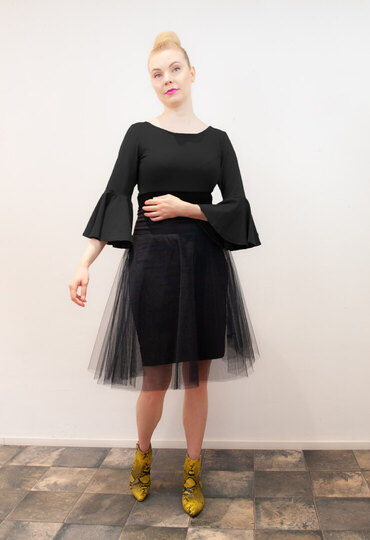 0 Milkyway Tulle Skirt/Tyllihame Black/Musta