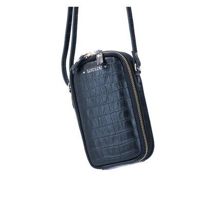 0 Mobile Bag Classy croc Black Gold