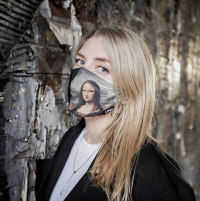 0 Mona Lisa Kasvosuojain-maski (Leonardo Da Vinci)