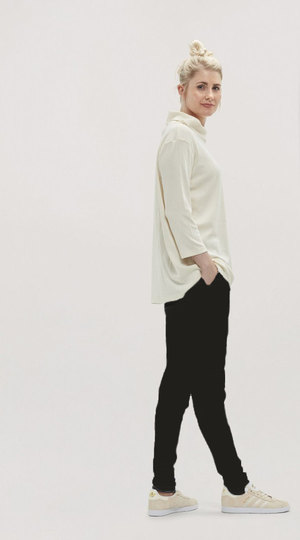 0 Pants Wool Black