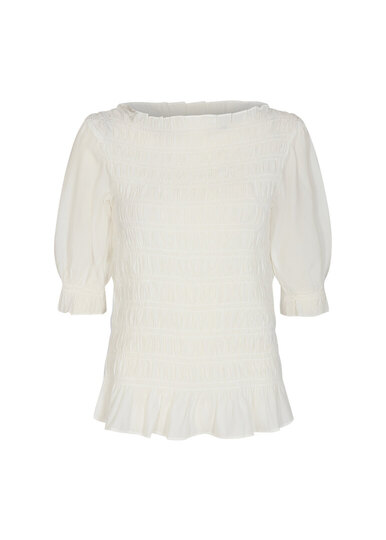 0 Pelican top off-white sustainable viscose