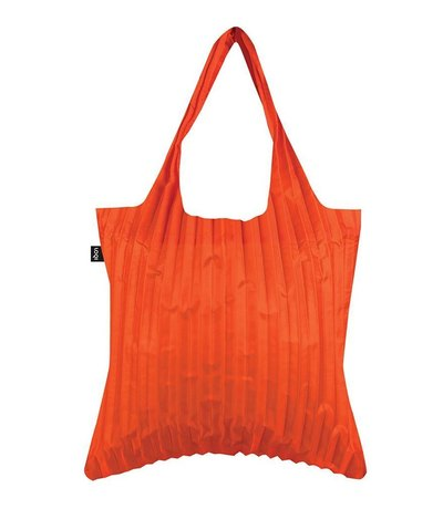 0 Pleated Orange Bag