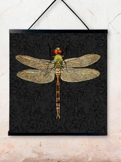 0 Poster Dragonfly Black 50X50