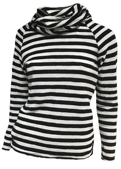 0 Roll Neck Blouse Stripes