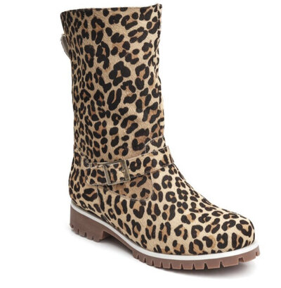 0 SHELLY BOOTS LEOPARD