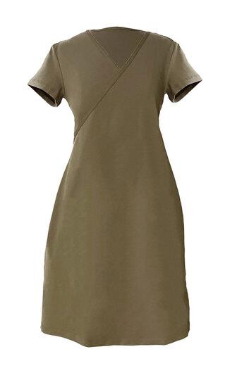 0 Salli Wrap Dress Petit Sahara Green