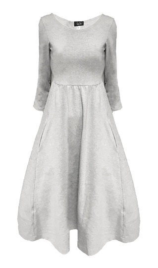 0 Seireeni Dress Jersey Light Grey Melange